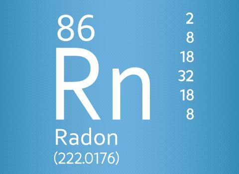 Radon testing symbol